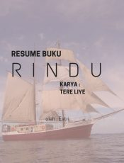 """Resume Novel """"Rindu"""" Tere Liye"""